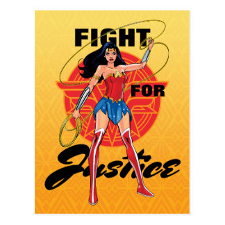 Wonder Woman With Lasso - Fight For Justice Postcard