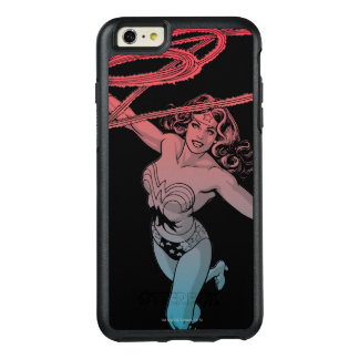 Wonder Woman With Lasso Red Blue Gradient Line Art OtterBox iPhone 6/6s Plus Case