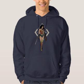 Wonder Woman With Sword Comic Art Hoodie