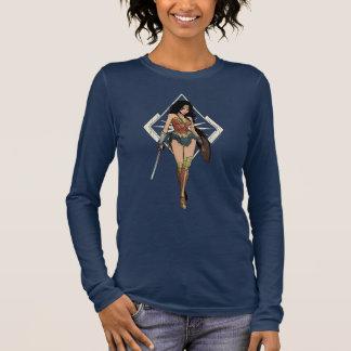 Wonder Woman With Sword Comic Art Long Sleeve T-Shirt