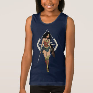 Wonder Woman With Sword Comic Art Tank Top