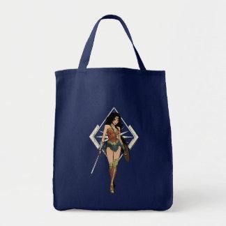 Wonder Woman With Sword Comic Art Tote Bag
