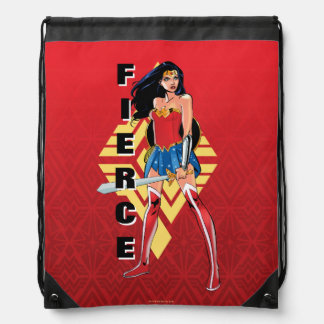 Wonder Woman With Sword - Fierce Drawstring Bag
