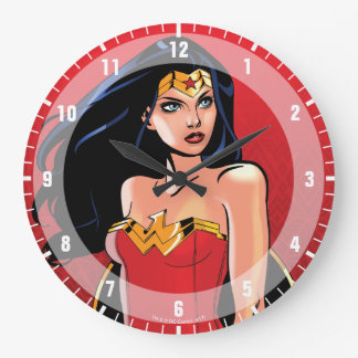 Wonder Woman With Sword - Fierce Large Clock