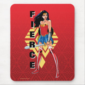 Wonder Woman With Sword - Fierce Mouse Pad