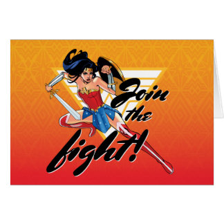Wonder Woman With Sword - Join The Fight Card