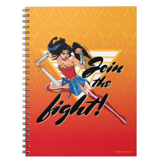 Wonder Woman With Sword - Join The Fight Notebooks