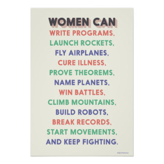 "Wonder Women ""Women Can…"" Litany Poster"