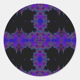 Wonder World Glance Abstract Round Sticker