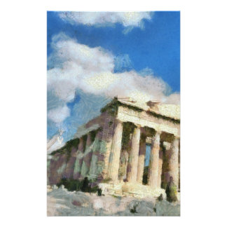 Wonderful Acropolis in Athens Stationery Paper