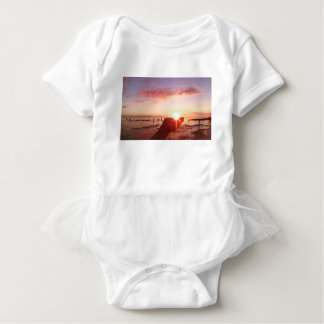 Wonderful and Incredible Sunset in the Philippines Baby Bodysuit