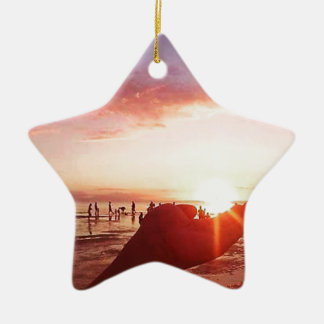 Wonderful and Incredible Sunset in the Philippines Ceramic Ornament