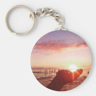 Wonderful and Incredible Sunset in the Philippines Keychain