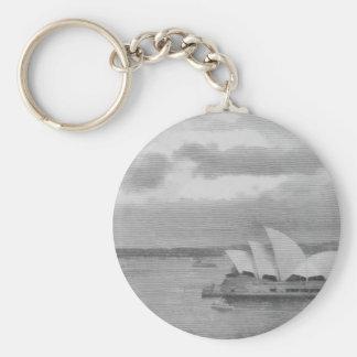 Wonderful architecture of Sydney Opera House Basic Round Button Keychain
