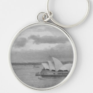 Wonderful architecture of Sydney Opera House Silver-Colored Round Keychain