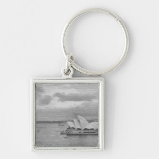 Wonderful architecture of Sydney Opera House Silver-Colored Square Keychain