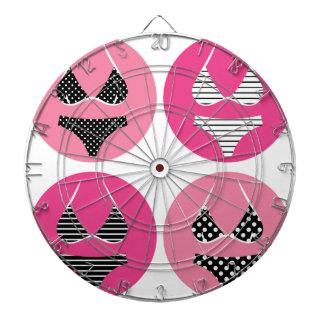 Wonderful bikini on pink dartboard