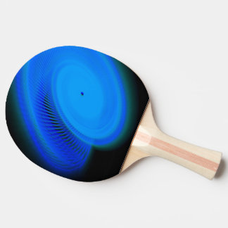wonderful blue neon light ping pong paddle
