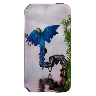 Wonderful blue parrot incipio watson™ iPhone 6 wallet case