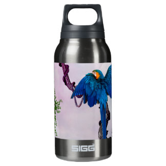 Wonderful blue parrot insulated water bottle