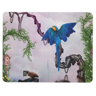 Wonderful blue parrot journal