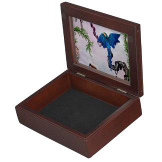 Wonderful blue parrot memory box