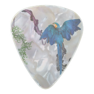 Wonderful blue parrot pearl celluloid guitar pick