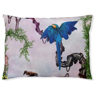 Wonderful blue parrot pet bed