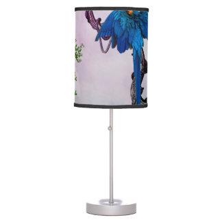 Wonderful blue parrot table lamp