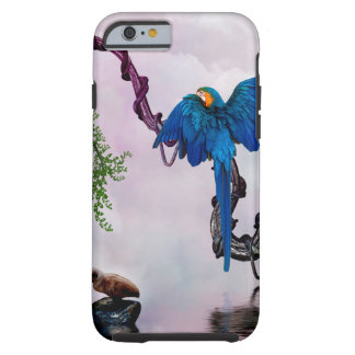 Wonderful blue parrot tough iPhone 6 case