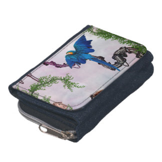 Wonderful blue parrot wallets
