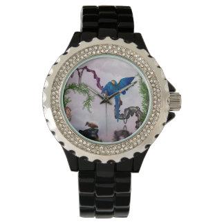 Wonderful blue parrot watch