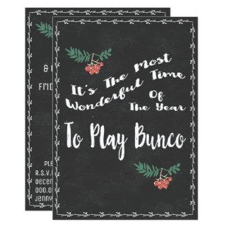 Wonderful Bunco Christmss Theme Card