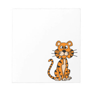 Wonderful Cartoon Tiger Design Notepad