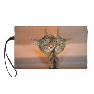 Wonderful Cat Wristlet Clutch