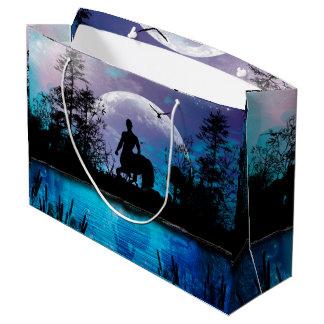 Wonderful centaur silhouette large gift bag