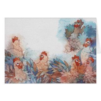 Wonderful chicken card