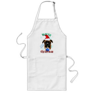 Wonderful-Christmas Boxer Dog  Aprons