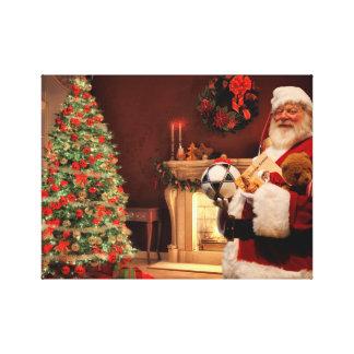 Wonderful Christmas Santa Claus Canvas Print