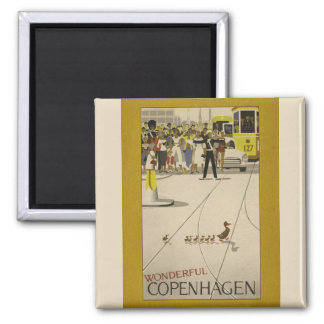 Wonderful Copenhagen Vintage Travel Magnet