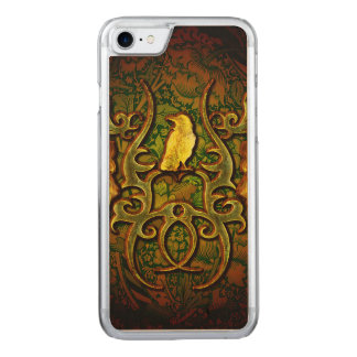 Wonderful crow carved iPhone 8/7 case