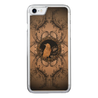 Wonderful crow made of rusty metal carved iPhone 7 case