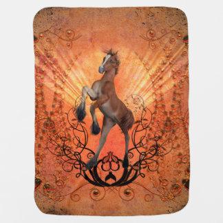 Wonderful , cute foal swaddle blanket