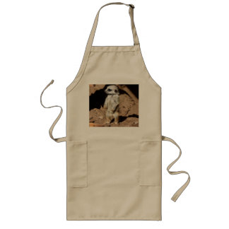 Wonderful Cute Sweet African Meerkat Animal Long Apron