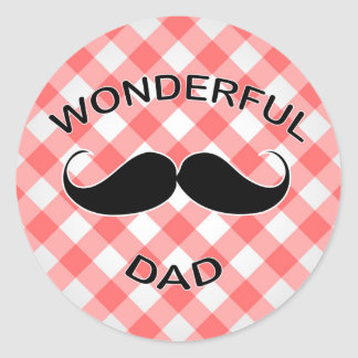 Wonderful Dad Classic Round Sticker