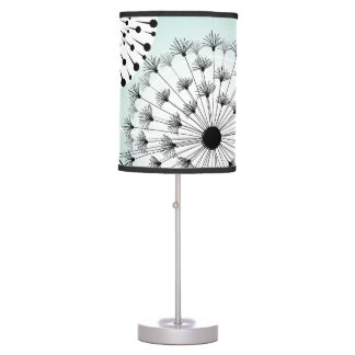 Wonderful Dandelions Blue Table Lamp