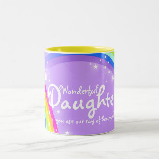Wonderful Daughter rainbow violet mug