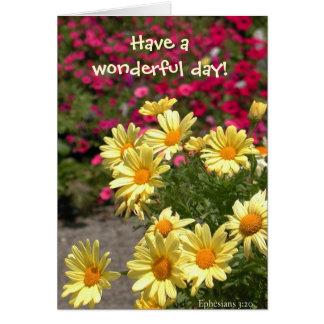 Wonderful day! card