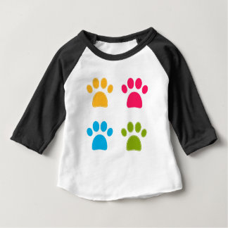 Wonderful dogs paws colored edition baby T-Shirt