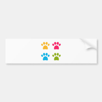 Wonderful dogs paws colored edition bumper sticker